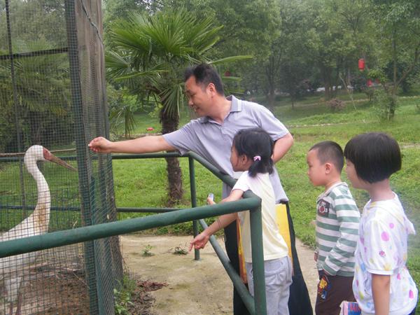 """孩子们与小动物的""""亲密接触""""。(庆六一小朋友九峰山国家森林公园快乐一日游)"""